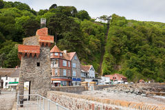 Lynmouth Harbour in Devon UK. Lynmouth Harbour in Devon picturesque fishing village stock image