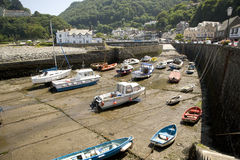 Lynmouth harbour, England Royalty Free Stock Image