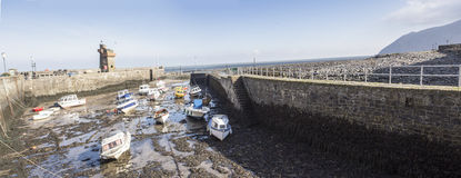 Lynmouth harbour at low tide Stock Image