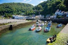 Lynmouth, het Noorden Devon het UK Stock Afbeelding
