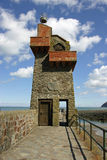 Lynmouth quay beacon stock image