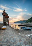 Lynmouth at Sunrise Stock Images