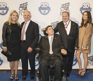 Lynn Buonicont, Nick Buoniconti, Marc Buoniconti och Chip Ganassi royaltyfri foto