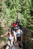 Lynn Canyon Suspension Bridge Royaltyfri Foto