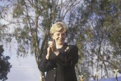Lynn Cheney przy Bush, Cheney kampanią/wiec w Costa mesach, CA, 2000 zdjęcia royalty free