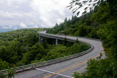 Lynn Cove viaduct,. At grandfather Mountain on the Blue Ridge Pkwy. A bridge in the sky, a bridge that goes around grandfather Mountain to protect a giant Royalty Free Stock Image