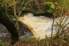 Lynn falls, Dalry Royalty Free Stock Photo