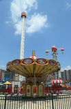 Lynn's Trapeze swing carousel  in Coney Island Luna Park Royalty Free Stock Photos
