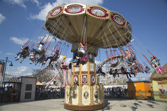 Lynn s Trapeze swing carousel in Coney Island Luna Park Stock Photos