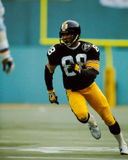 Lynn Swann Pittsburgh Steelers. Former Pittsburgh Steelers WR and Hall of Famer Lynn Swann.  (Image taken from color slide Royalty Free Stock Photos