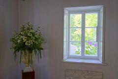 Lynnig bild av blommor i en vas Arkivfoton