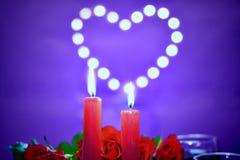 Lynnig garnering för begrepp för dag för valentin` s royaltyfria bilder
