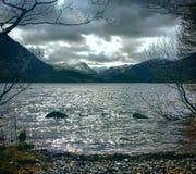 lynnig lake Arkivfoton
