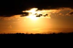 lynnig solnedgång Royaltyfri Fotografi