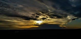 Lynnig solnedgång arkivfoto