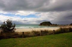 lynnig strand Royaltyfria Bilder