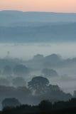 Lynniga Dawn Landscape Fotografering för Bildbyråer