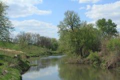 Lynnville, paisaje de Iowa Foto de archivo libre de regalías