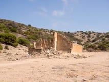 Lynton遗产站点,口岸格里证明有罪聘用的驻地废墟,西澳州 免版税库存图片
