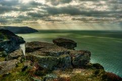 Lynton Coast HDR Fotografia de Stock Royalty Free