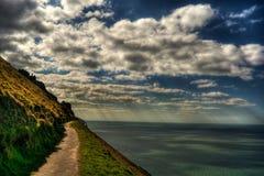 Lynton Coast HDR Stock Image