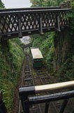 Lynton & Lynmouth cliff Railway Stock Photo