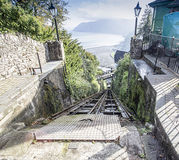 Lynton to Lynmouth funicular railway Stock Photos
