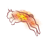 Lynx d'aquarelle de vecteur Image stock