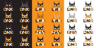 Lynx de masque d'icônes Images libres de droits