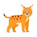 Lynx, illustratie voor kinderen Royalty-vrije Stock Afbeeldingen