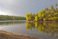 Lynx Lake Sunset Scenic Royalty Free Stock Photos
