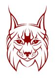 Lynx mascot. Head of lynx as a mascot isolated on white Stock Images