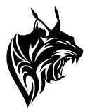 Lynx profile head black vector design Stock Photography
