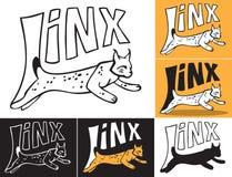 Lynx springende inschrijving Royalty-vrije Stock Foto
