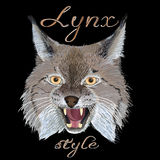 Lynx style Royalty Free Stock Image
