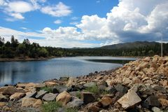 Lynxmeer, Prescott, Yavapai-Provincie, Arizona Stock Foto's