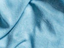 Lyocell o struttura blu del modello del denim del tencel fotografia stock libera da diritti