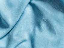 Lyocell or tencel blue denim pattern texture. Modern soft jeans blouse texture close up. Lyocell or tencel pattern - modern natural cellulose fabric blue denim royalty free stock photography