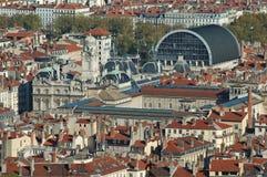 lyon över panorama Royaltyfri Foto