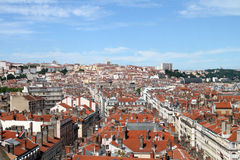 Lyon. View from height of the bird's flight, France Royalty Free Stock Photo