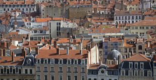 Lyon aérea Fotos de archivo