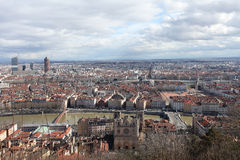 Lyon from above, France Stock Photo