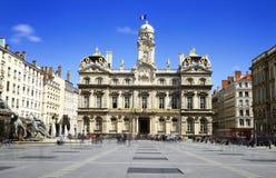 Lyon, ayuntamiento, Francia fotografía de archivo libre de regalías
