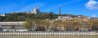 Lyon with basilica and courthouse Stock Image
