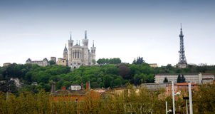 Lyon -The Basilica of Fourviere Royalty Free Stock Photos