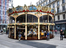 Lyon Carousel Royalty Free Stock Photo