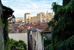 Lyon, catedral del santo Jean Imágenes de archivo libres de regalías