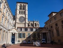 Lyon Cathedral Stock Photography