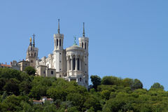 Lyon Cathedral in the big blue sky Stock Photo