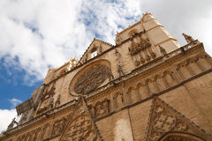 Lyon Cathedral (Cathedrale Saint-Jean-Baptiste) Royalty Free Stock Image